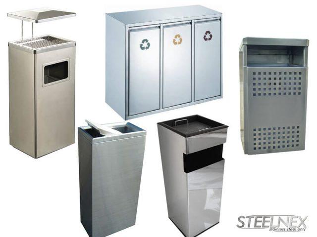Кошчета за боклук и съдове за отпадъци от неръждаема стомана